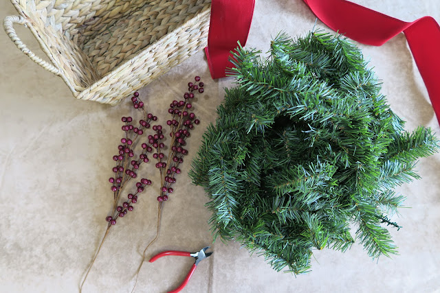 Pine garland craft