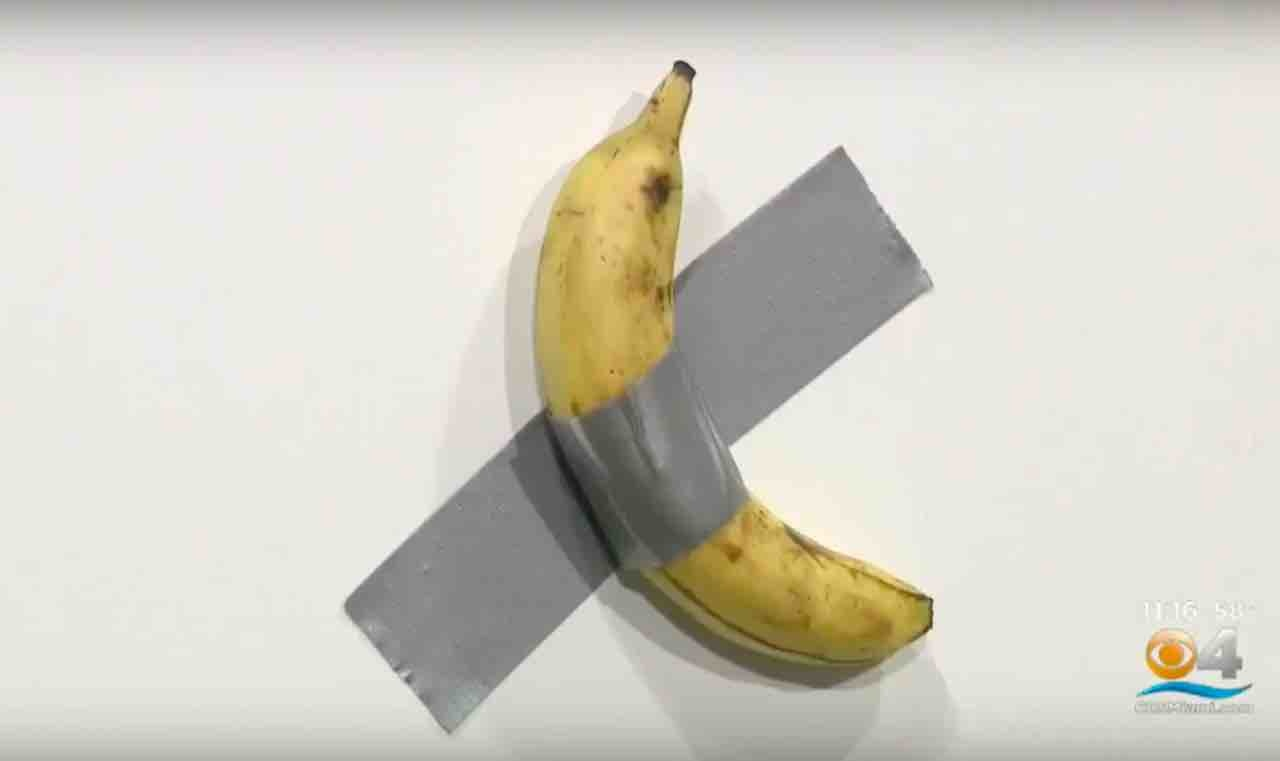 banana duct tape, art show
