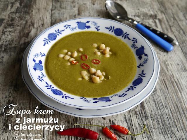 Zupa krem z jarmużu i ciecierzycy z chili - Czytaj więcej »