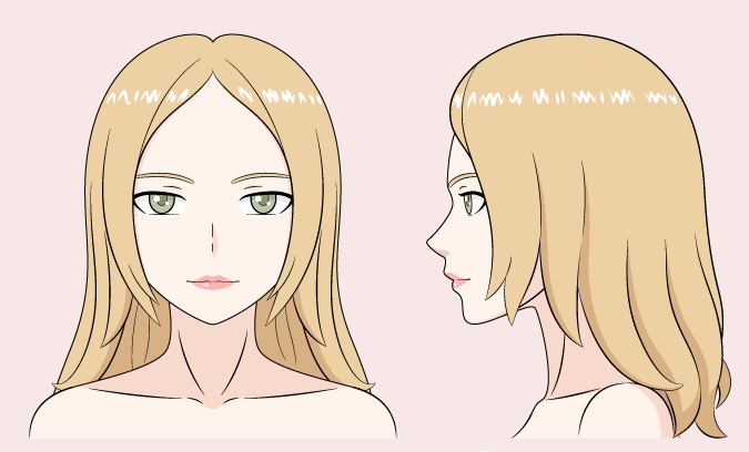 Gambar warna wanita anime