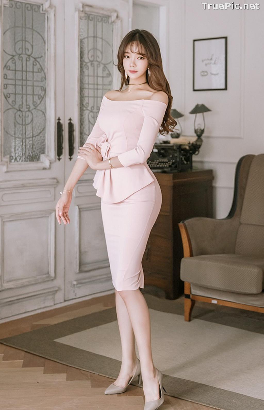 Image Korean Fashion Model - Kang Eun Wook - Slim Fit Bodycon Dress - TruePic.net - Picture-7