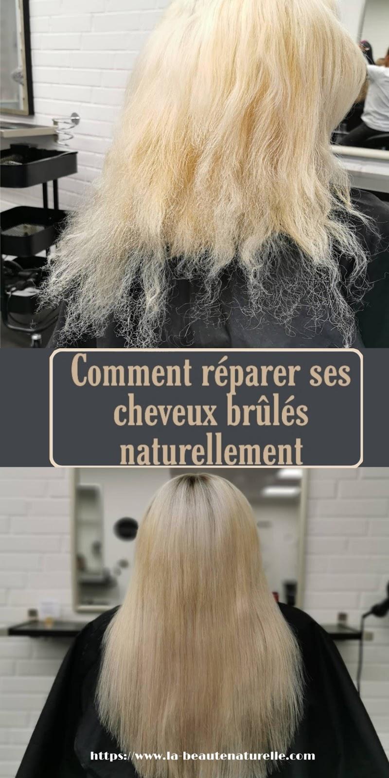 Comment réparer ses cheveux brûlés naturellement