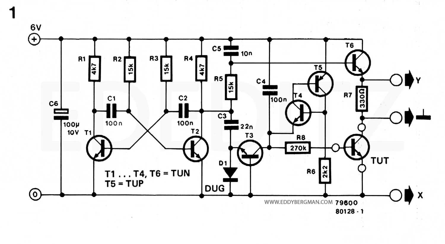 eddy bergman com simple but effective transistor curve tracer circuit rh eddybergman com Tracer Wire On Gas Meter wire tracer transmitter schematic