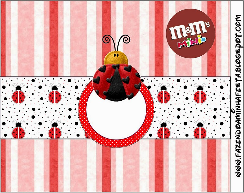 Free Printable M&M Candy Bar Labels for a Ladybugs.