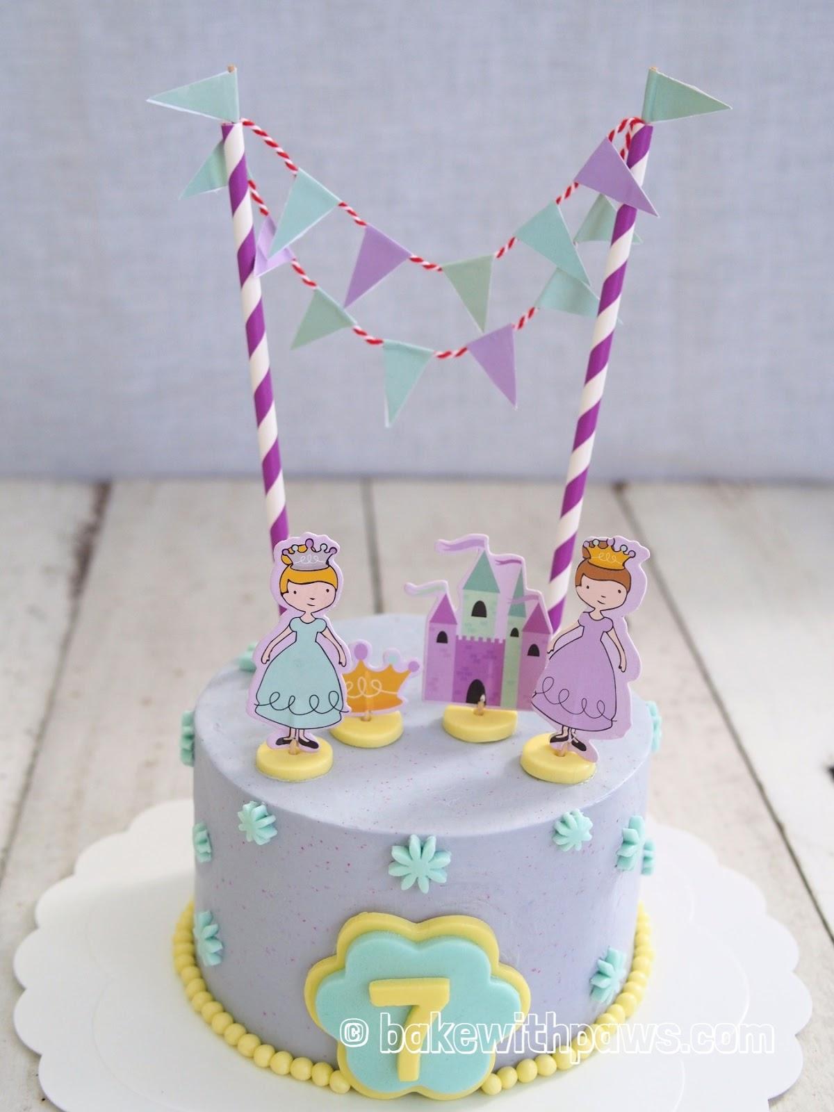 Princess Birthday Cake BAKE WITH PAWS