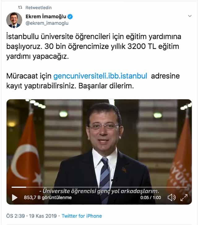 İBB Başkanı Ekrem İmamoğlu, 30 bin öğrenciye burs vereceklerini açıkladı. İBB burs başvurusu nasıl yapılır?