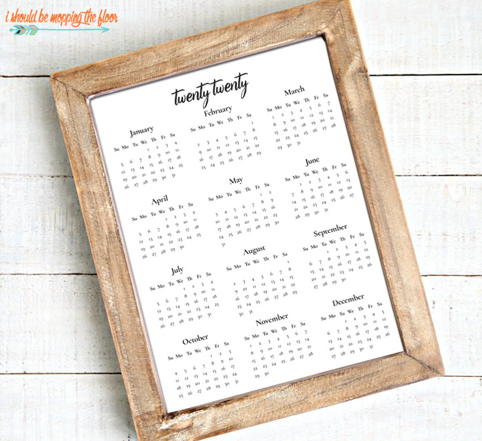 Black and White Calendar Printable