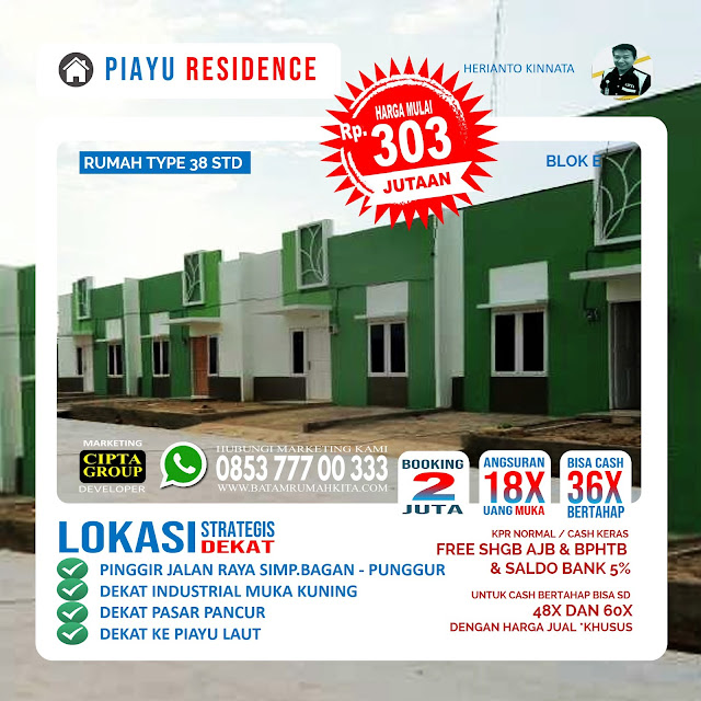 Perumahan dan Townhouse Piayu Residence