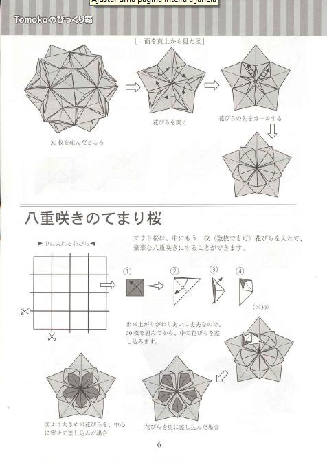 ADOBRACIA: Diagrama De Kusudama Cherry Blossom