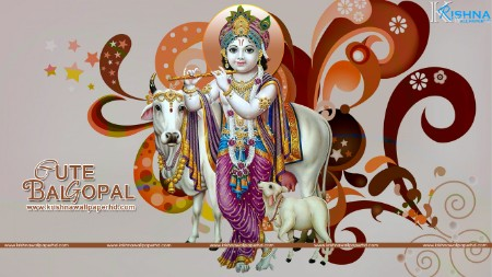 Cute bal krishna images wallpaper