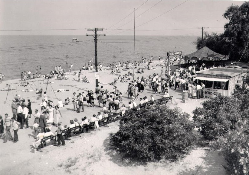 Sandusky History: Pictures of the Cedar Point Beach by Henry Suehrstedt