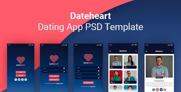 Best Dating App PSD Template