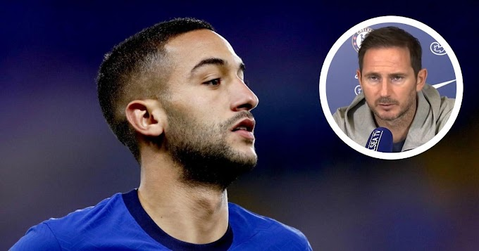 Lampard: Hakim Ziyech could start Chelsea first game  on Wednesday
