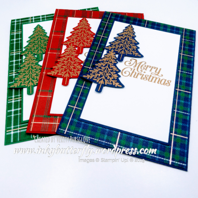 Perfectly Plaid, PineTree Punch, Stampin Up