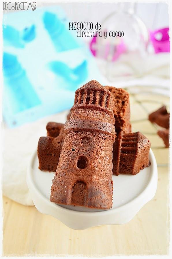 Bizcocho de almendra y chocolate. 7 opciones para sustituir la harina de trigo.