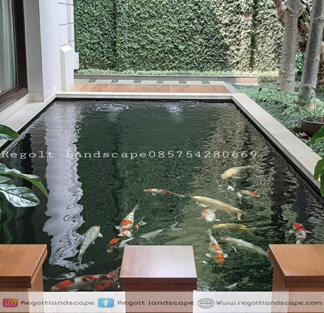 Jasa Pembuatan Kolam Ikan Koi Minimalis Di Surabaya