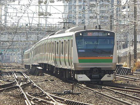 10両編成のE233系 東京経由 快速アクティー宇都宮行き