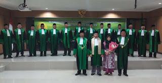 Wisuda Purnabakti Hakim Tinggi PTA Palembang dan Purnabakti Panitera Pengganti PTA Palembang