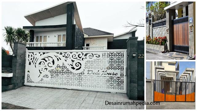 6 Ide Pagar Dan Tembok Pagar Minimalis Ini Akan Membuat Hunian Makin Aman Dan Apik Desainrumahpedia Com Inspirasi Desain Rumah Minimalis Modern