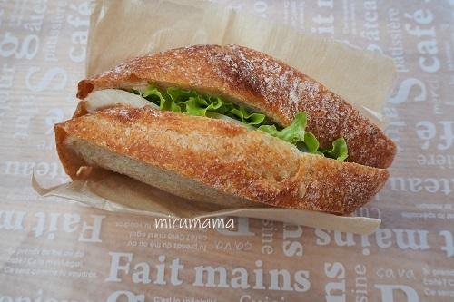 コッキパンのサンドイッチ