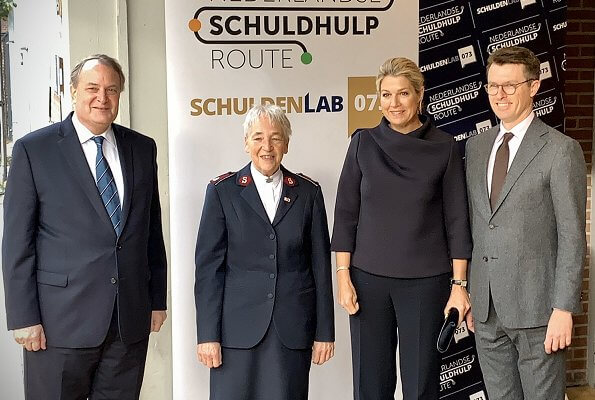 Queen Maxima attended the launch of Nederlandse Schuldhulproute at the Verkadefabriek in s-Hertogenbosch city