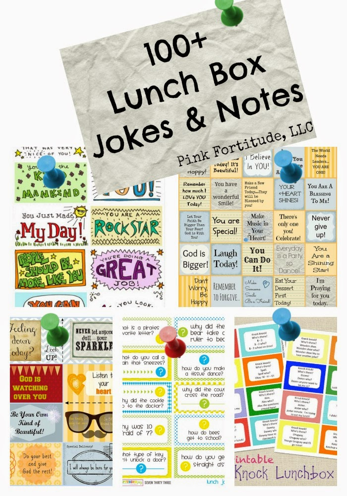 Lunchbox Jokes & Notes #printables #school #cleanjokes