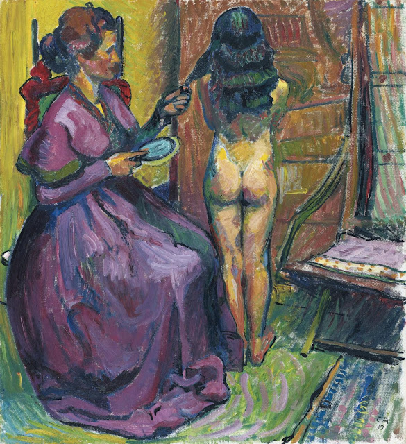 1910. Cuno Amiet - Child at the Morning Toilette