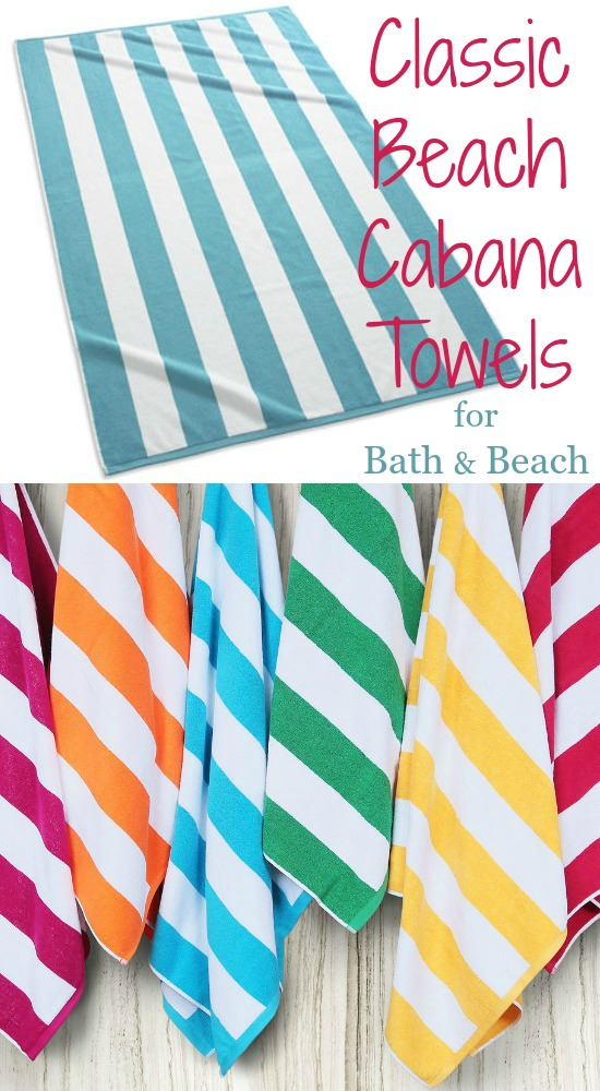 Cabana Stripe Beach Bath Towels