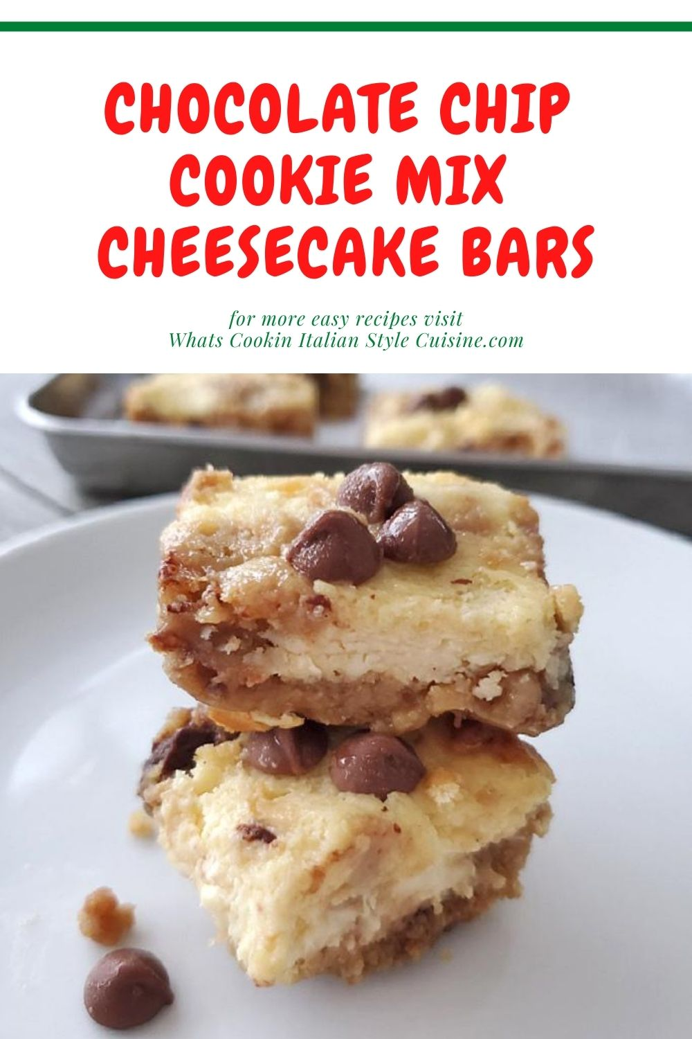 pin for later how to use chocolate chip cookie mix and make a dessert