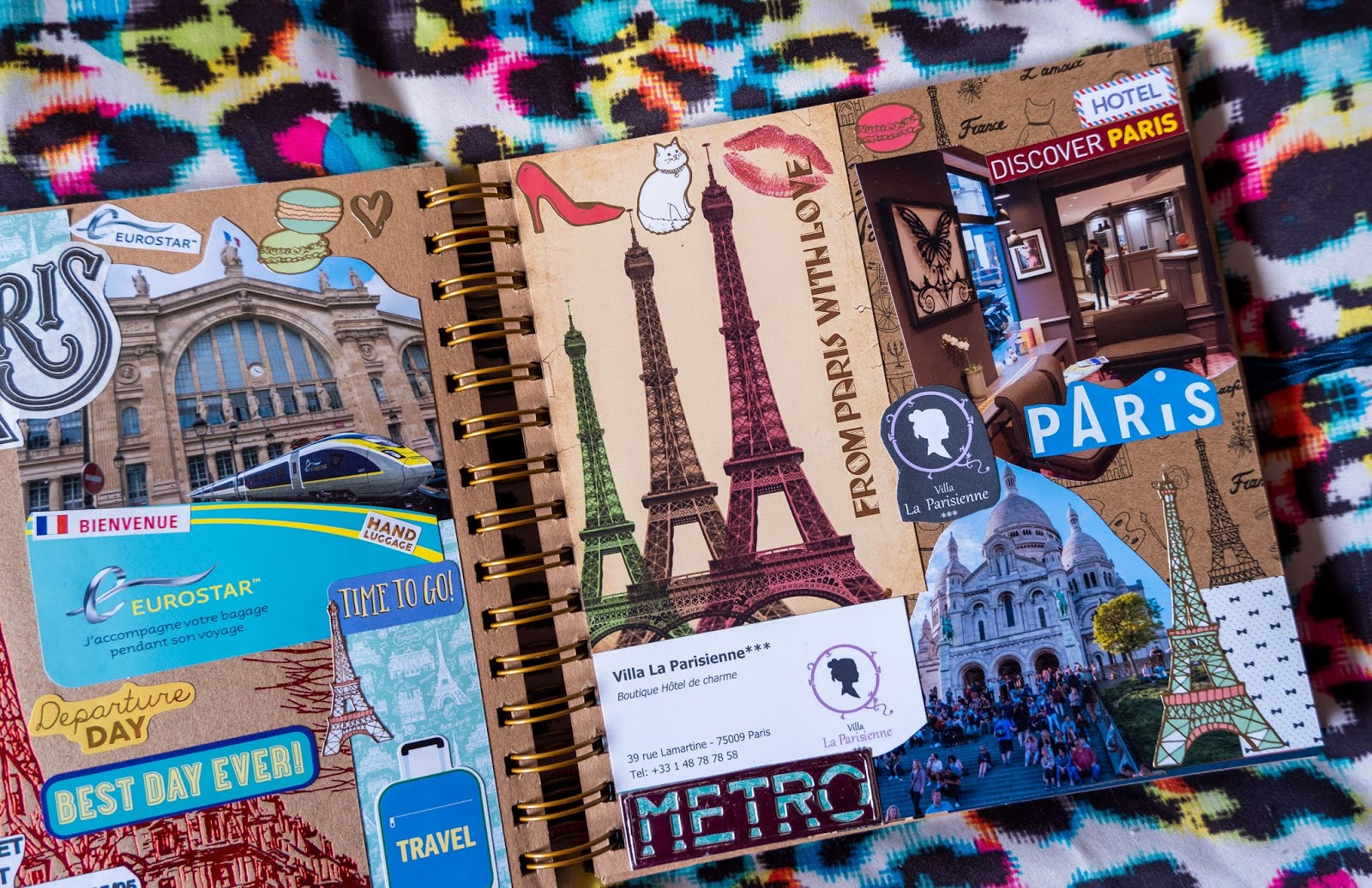 Paris pages in my 2019 travel scrapbooks