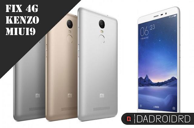 Cara fix 4G Xiaomi Redmi Note 3 Pro (Kenzo) semua versi MIUI 9