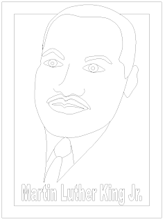 Free martin luther king jr day printable coloring page for Martin luther king day coloring pages