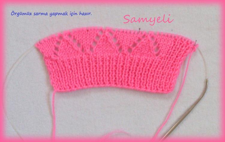 Knitting beauty fower pattern, photo tutorial.