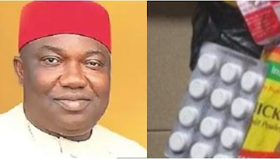Enugu Residents In Shock As Governor Shares Paracetamol As Food Palliatives