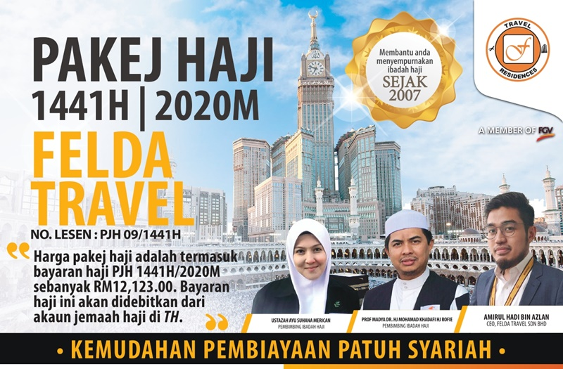 Pakej Haji Felda Travel 2020