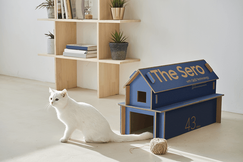 Samsung's Eco-Friendly packaging turns into a cat house