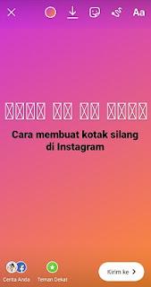 Cara Membuat Kotak Silang Di Instagram Story