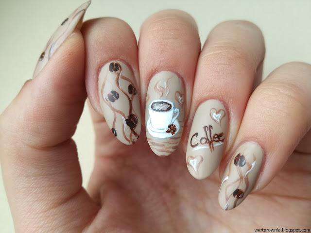 kawowe paznokcie po raz kolejny
