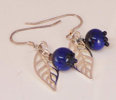 Blueberry Earrings by BayMoonDesign
