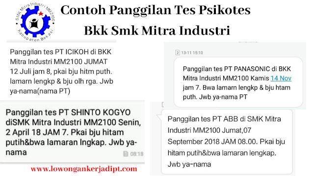 BKK Mitra Industri MM2100