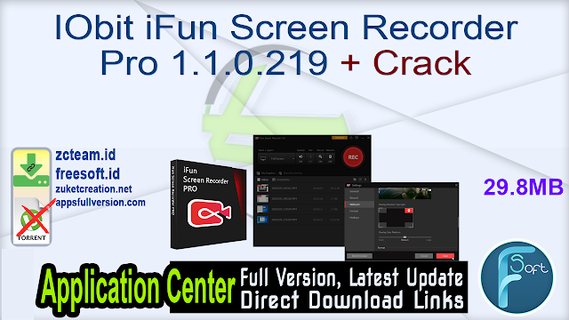IObit iFun Screen Recorder Pro 1.1.0.219 + Crack_ ZcTeam.id