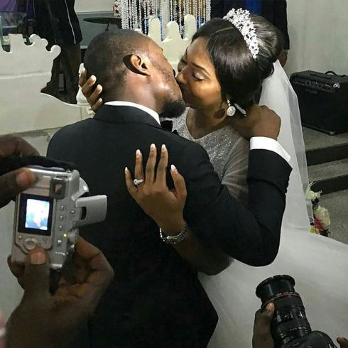 Lilian Esoro Ubi Franklin white wedding