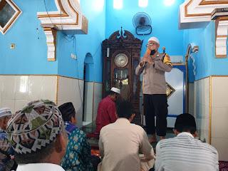 Jelang Idul Fitri 1441 hijriah, Bhabinkamtibmas Pattingalloang Ajak Patuhi Prokes pada Sholat Id