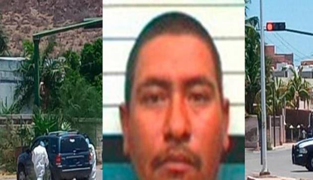 """FOTOS-. Un grupo de sicarios ejecutó a Juan Francisco Herrera Ortiz Alias """"El Brujo"""" de 34 años (del Cártel De Sinaloa) junto a su esposa Nayel de 29 años y su hija de 10"""
