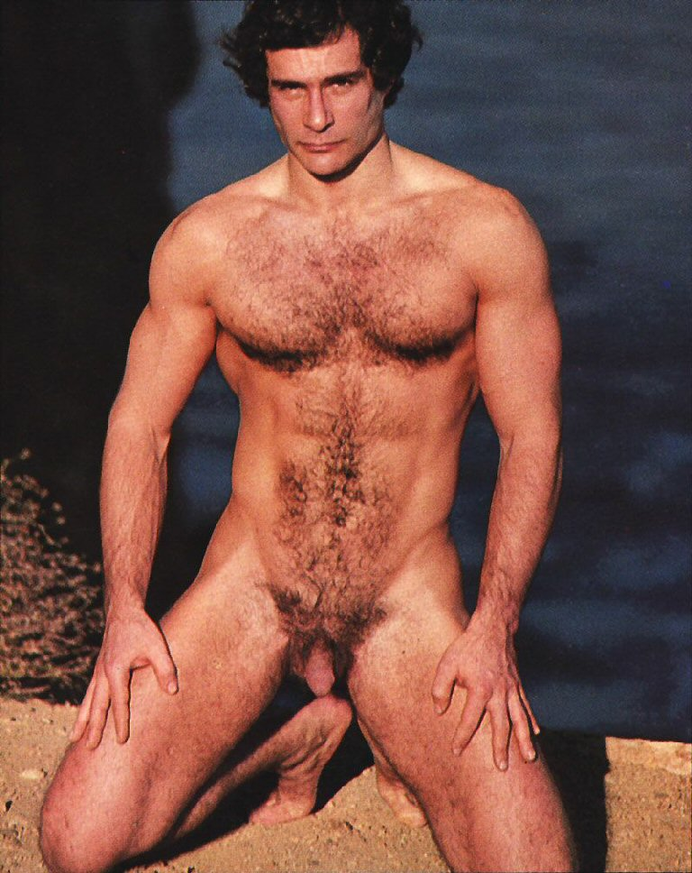 Male man models chest hairy