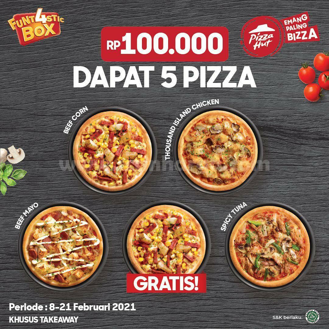 Promo PIZZA HUT Rp 100.000! DAPAT 5 BOX PIZZA