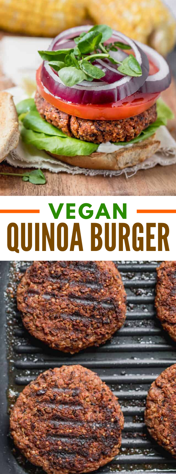Quinoa Burger #vegan #sandwiches