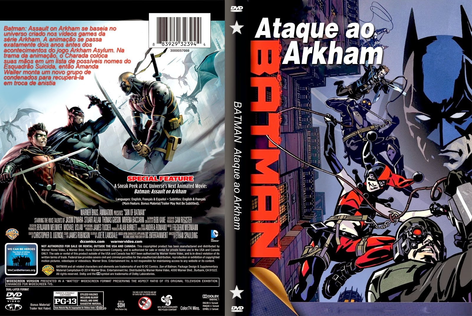 Batman assalto ao arkham 2014 bluray 1080p dublado d4v1 - 1 10