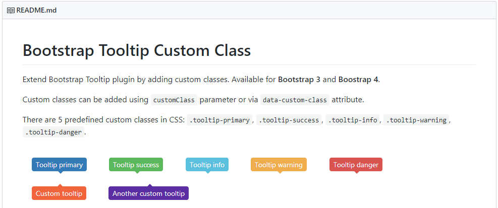 UI Bootstrap Tooltip 修改色系- bootstrap-tooltip-custom