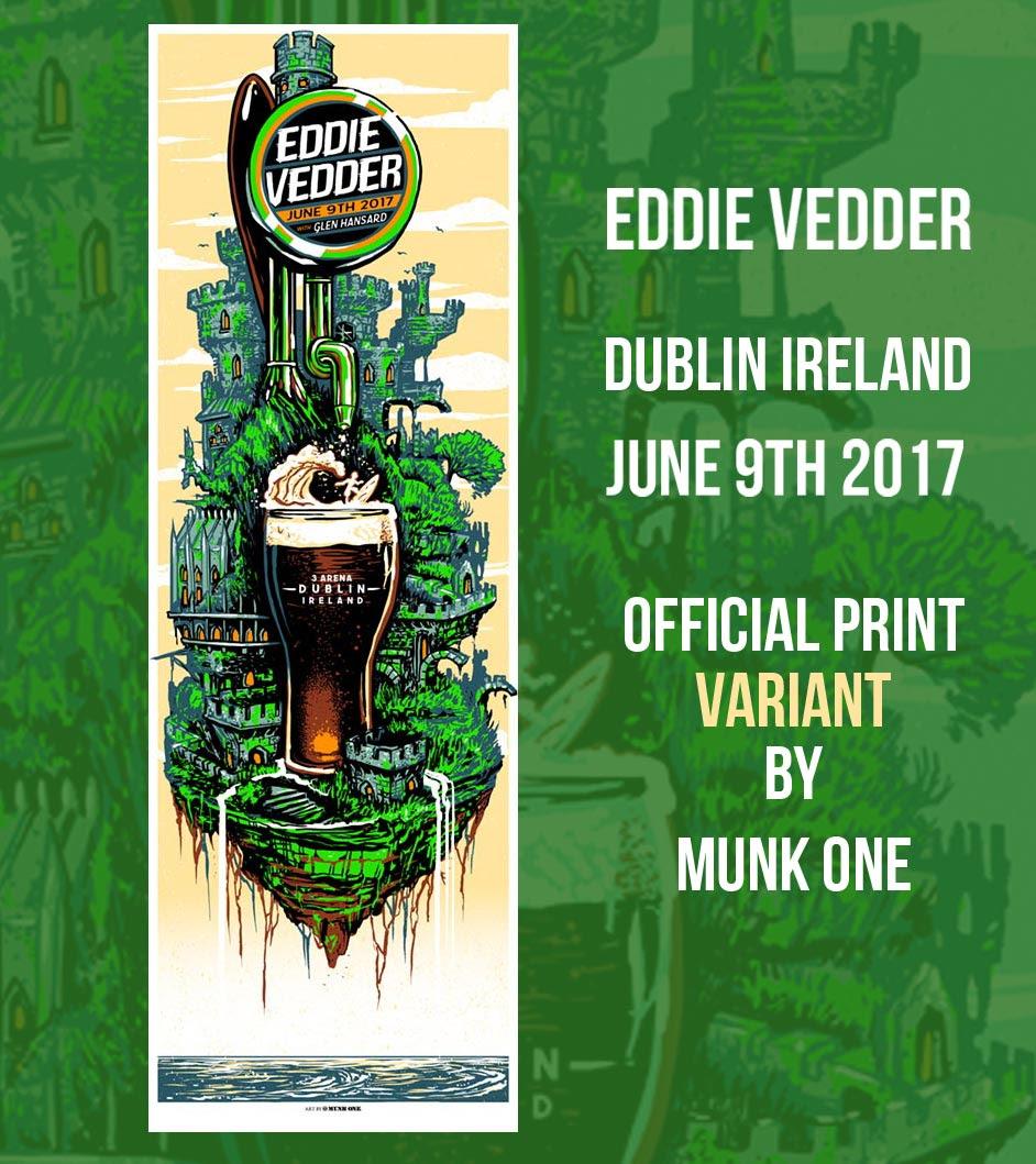 Poster design dublin - Eddie Vedder Dublin Poster By Munk One Release